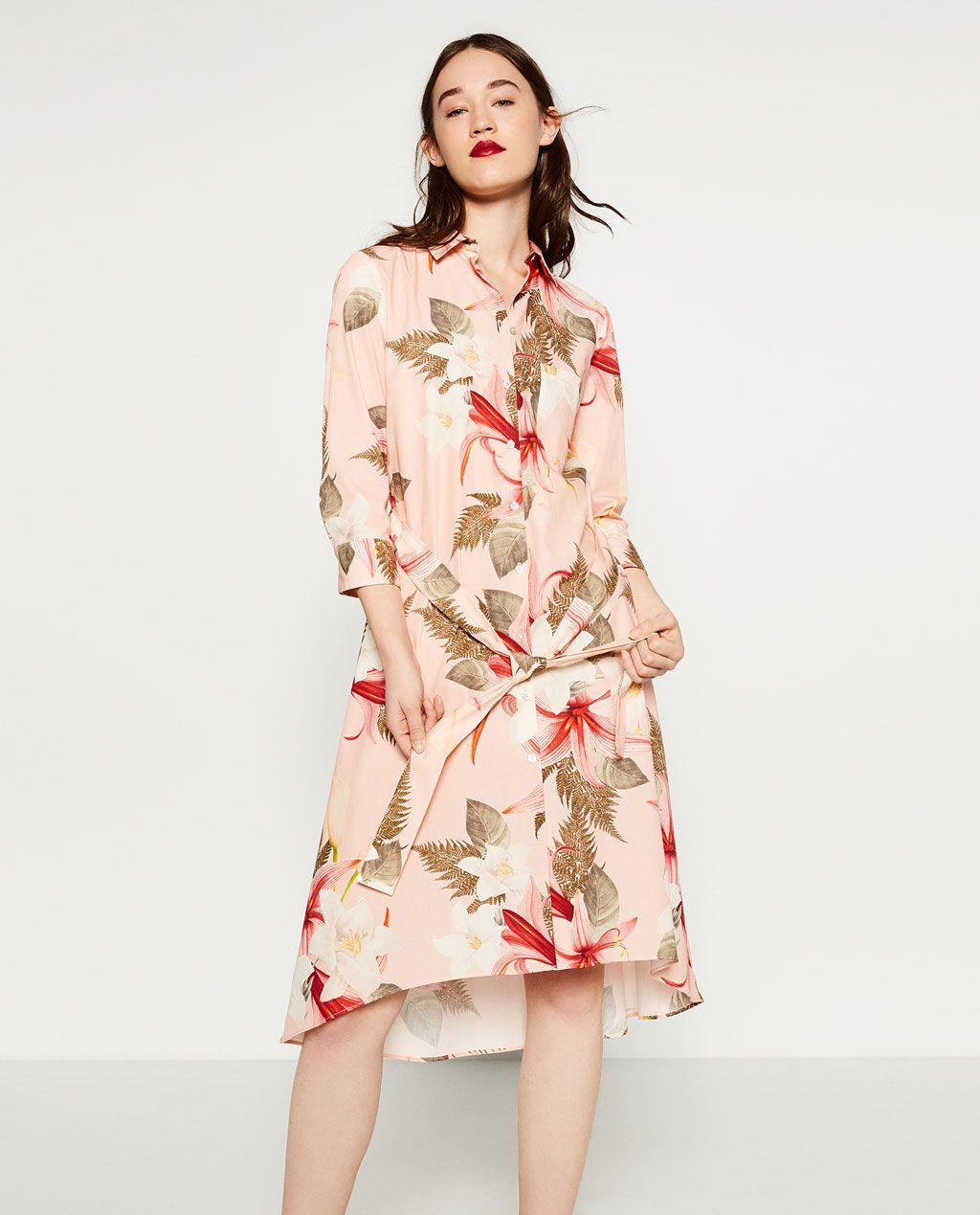 1f2a65a2 Floral Striped Midi Dress Zara - raveitsafe