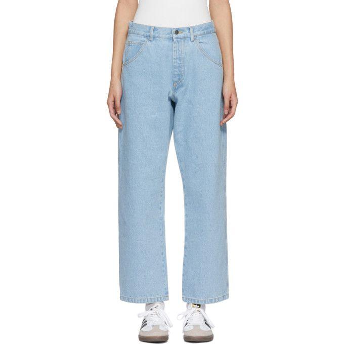 Gosha Rubchinskiy Blue Bleached Jeans Gosharubchinskiy Cloth