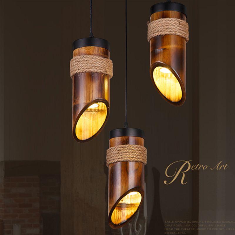Wood Led Pendant Light