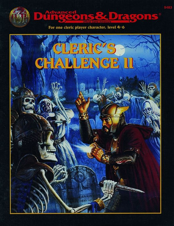Hhq8 Cleric S Challenge Ii 2e Book Cover And Interior Art For