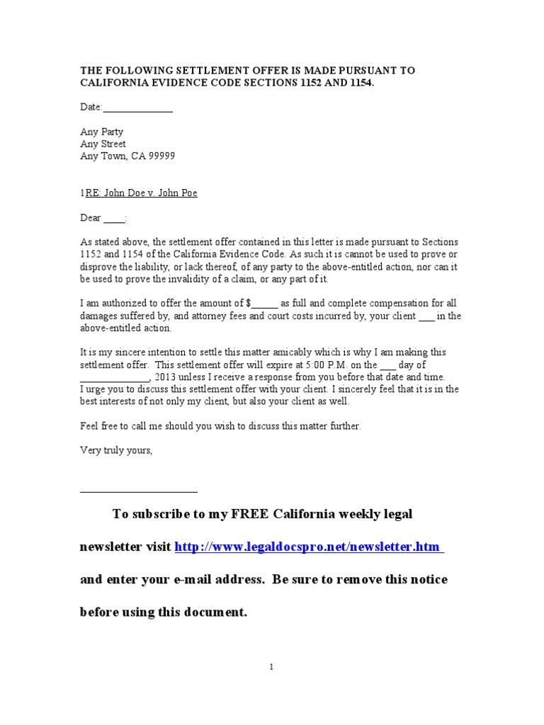 Sample Settlement Letter Resume Cover Final Format And Offers