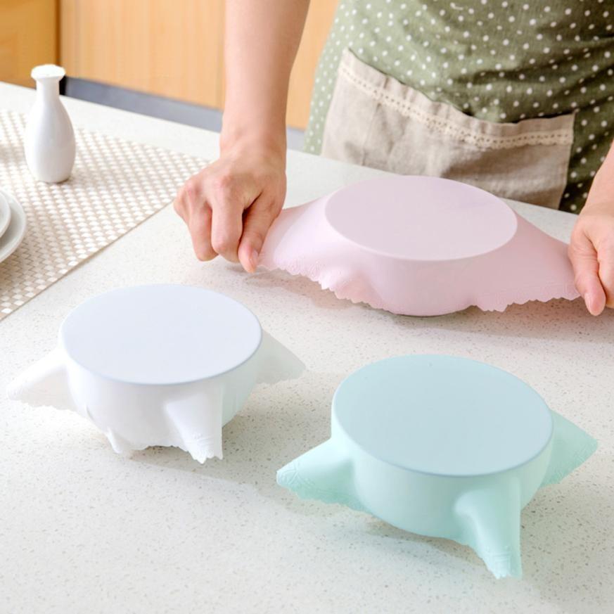 Vacuum Bowl Lid Silicone Plastic Wrap