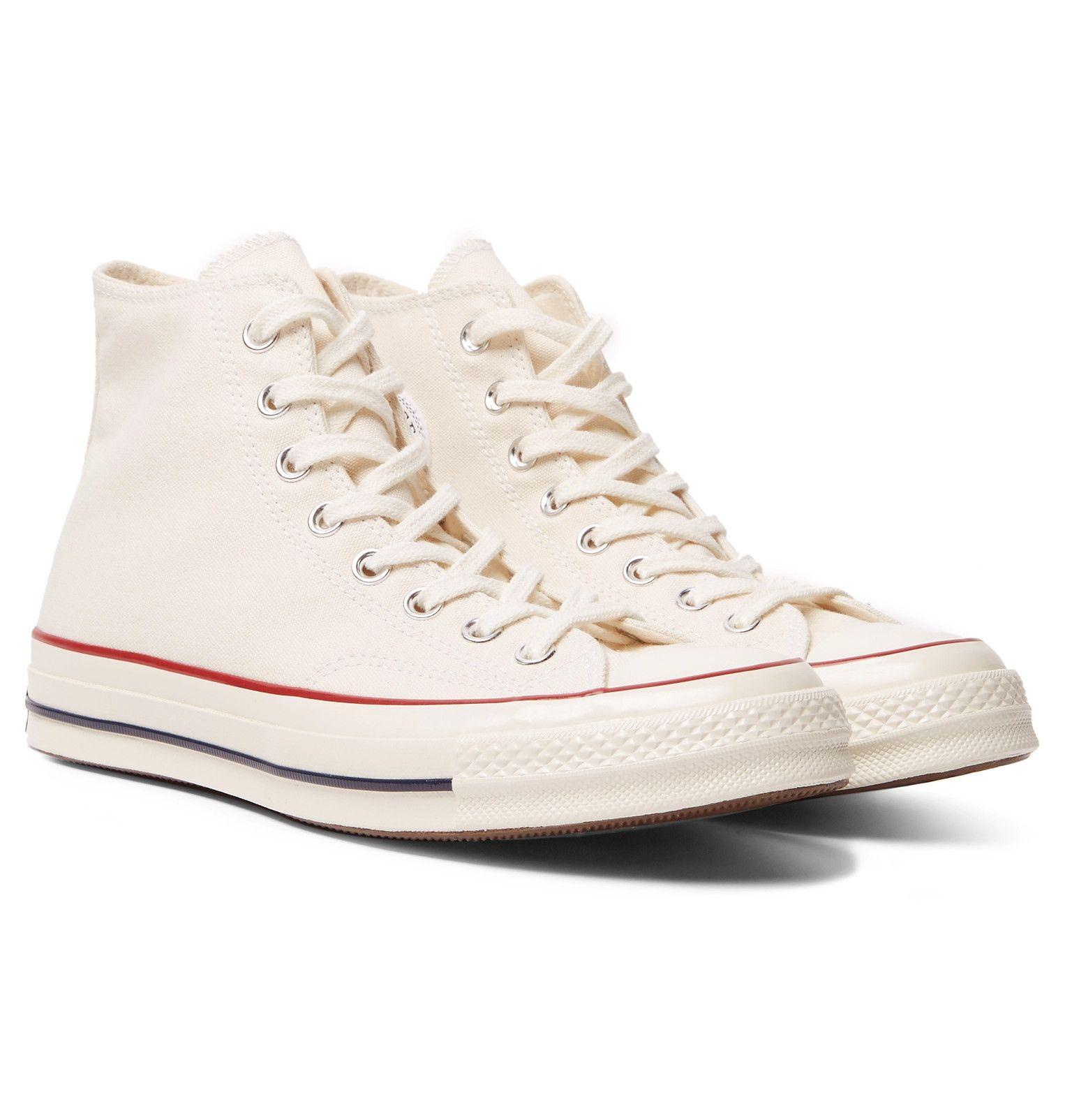 Cream Chuck 70 Canvas High-Top Sneakers