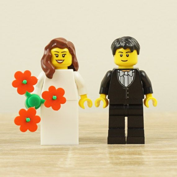 Lego cake topper, Lego bride and groom, Lego cake toppers, Lego ...