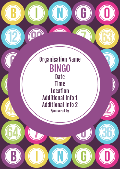 Picture of Bingo Poster (1) | Flyers | Pinterest ...