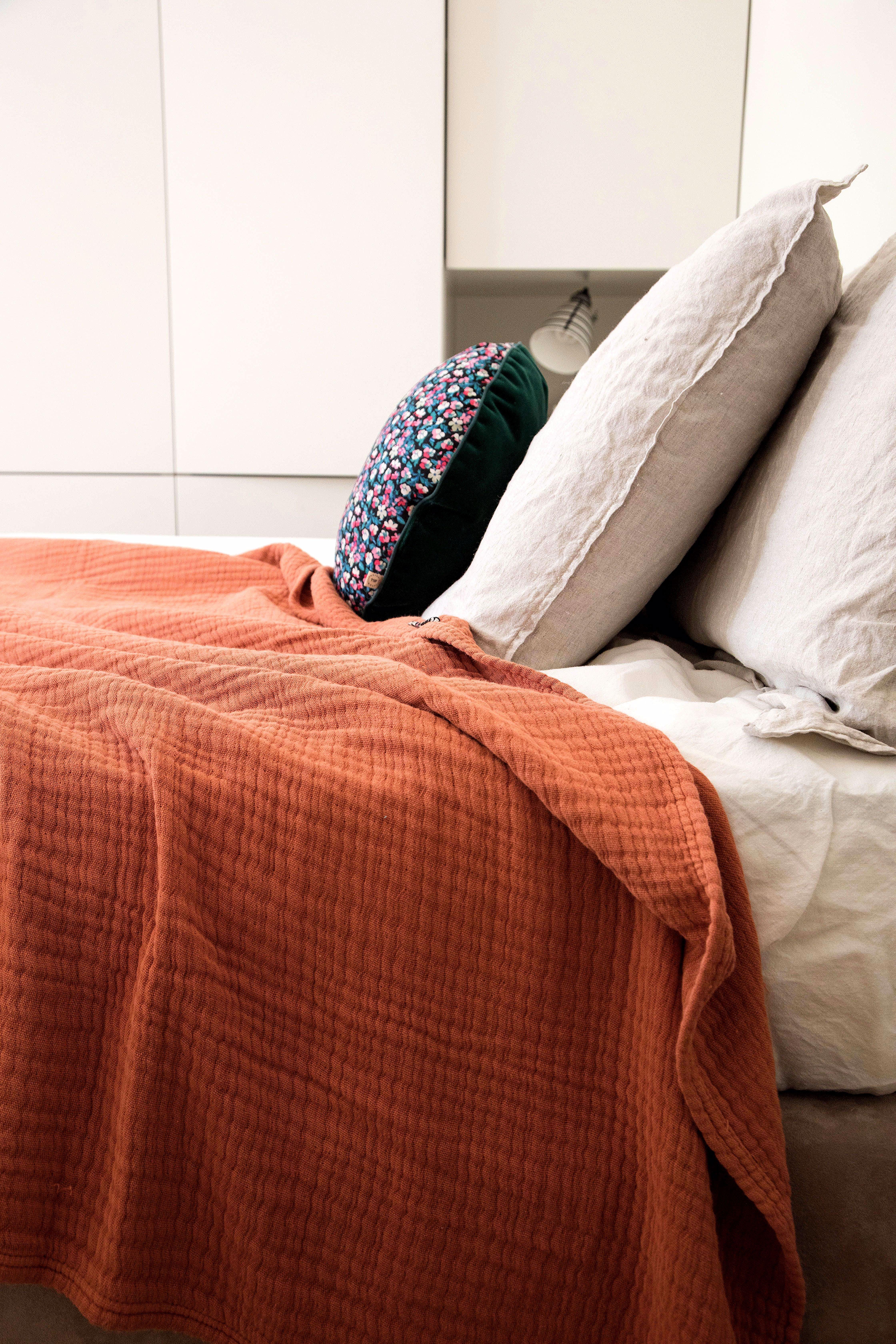 Draps Double   Orange kids rooms, Bed, Home