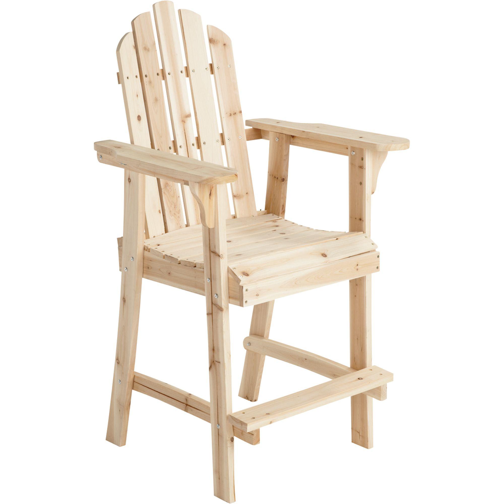 Stonegate Designs Tall Fir Wood Adirondack Chair U2014 30in.L X 25 1/2in