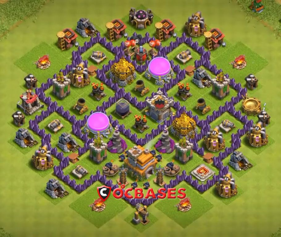 8 Best Th7 Defense Base 2020 New Clash Of Clans Clash Of Clans Game Base