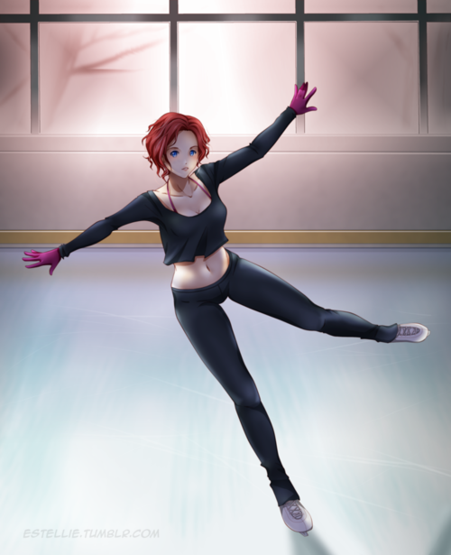 Yuri on Ice:Mila Babicheva(using a computer mouse) by Estelly on DeviantArt
