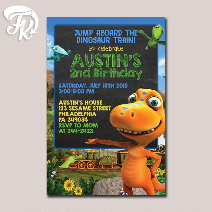 Dinosaur Strain Chalk Menu Birthday Party Card Digital Invitation