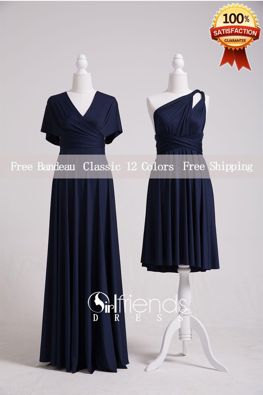 Navy Bridesmaid Dresses,Convertible Bridesmaid Dress Long ...