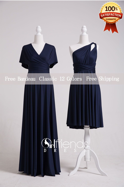 Navy blue convertible dressbridesmaid dressinfinity dresswrap