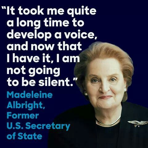 Madeleine Albright Quotes Quote : Madeline Albright | Quotes | Quotes, Woman quotes, Words Madeleine Albright Quotes