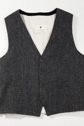 Irish wool tweed vest