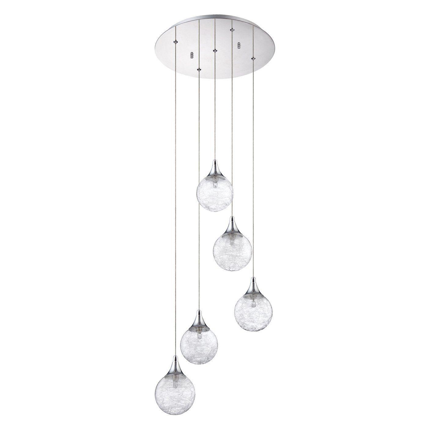 multi light pendant lighting. For The Stairwell Kendal Lighting PF41-5LPA-CH Multi Light Pendant | ATG Stores H