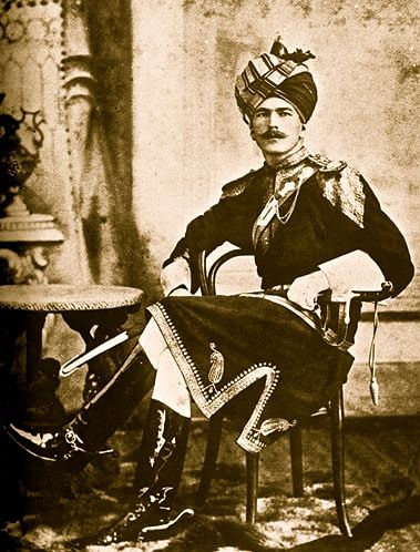 British officer in 11th Bengal Lancers (Probyn's Horse) circa 1890.