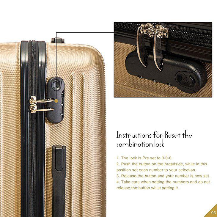 c1b08bf43827 Amazon.com | Merax Hylas 3 Piece Luggage Set Lightweight Spinner ...
