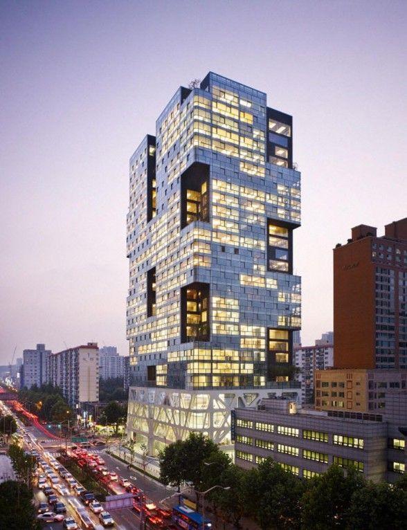 Boutique Monaco Tower Apartment Building In Seoul