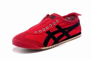 1b28b88f7087 Onitsuka Tiger Mexico 66 Slip On Mens Shoes Red Black