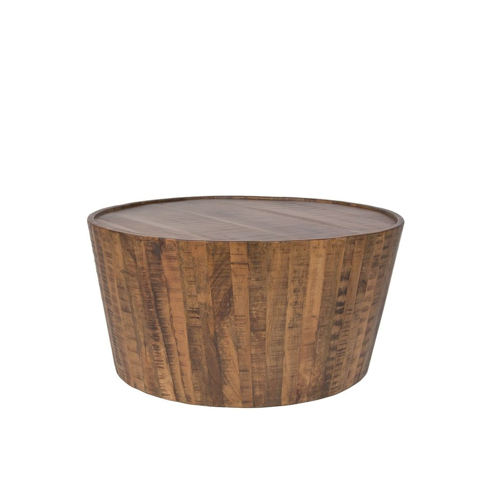 Round Metal Drum Coffee Table