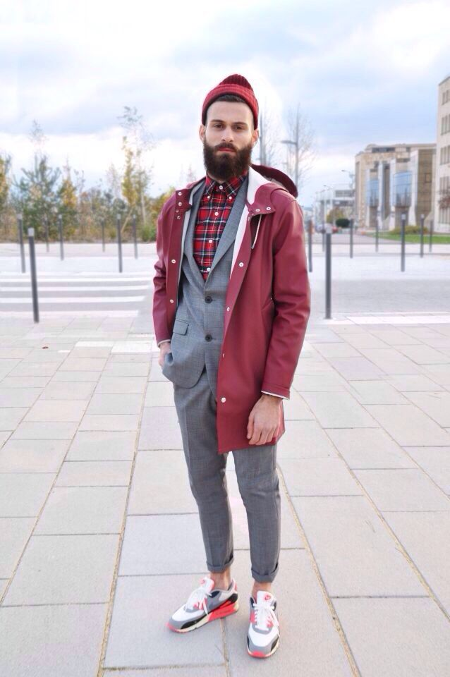 huge discount 26624 371c4  street  style  look  men  mensfashion  red  plaid  sneakers  winter   inspiration  outfit