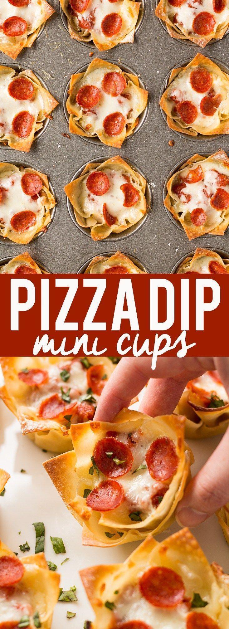Mini Pizza Dip Cups #tailgatefood