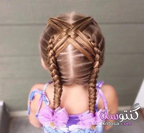 تسريحات شعر جميلة للاطفال تسريحات شعر للاطفال للمدرسه تسريحات اطفال شعر قصير تسريحات شعر تحفة Kntosa Com 2 Kids Braided Hairstyles Kids Hairstyles Hair Styles