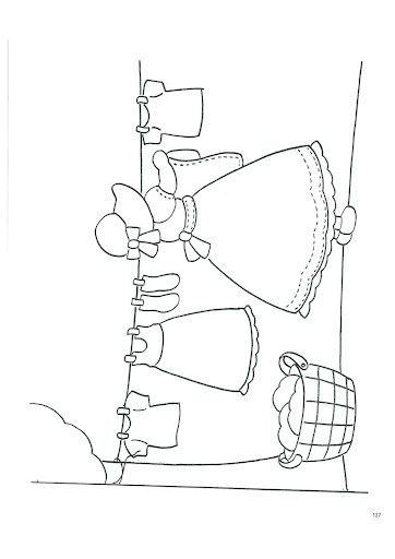 sunbonnet sue coloring pages - sunbonnet sue hanging laundry embroidery pattern or