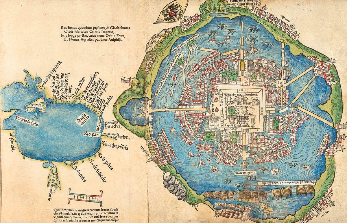 First European Map Of Tenochtitlan