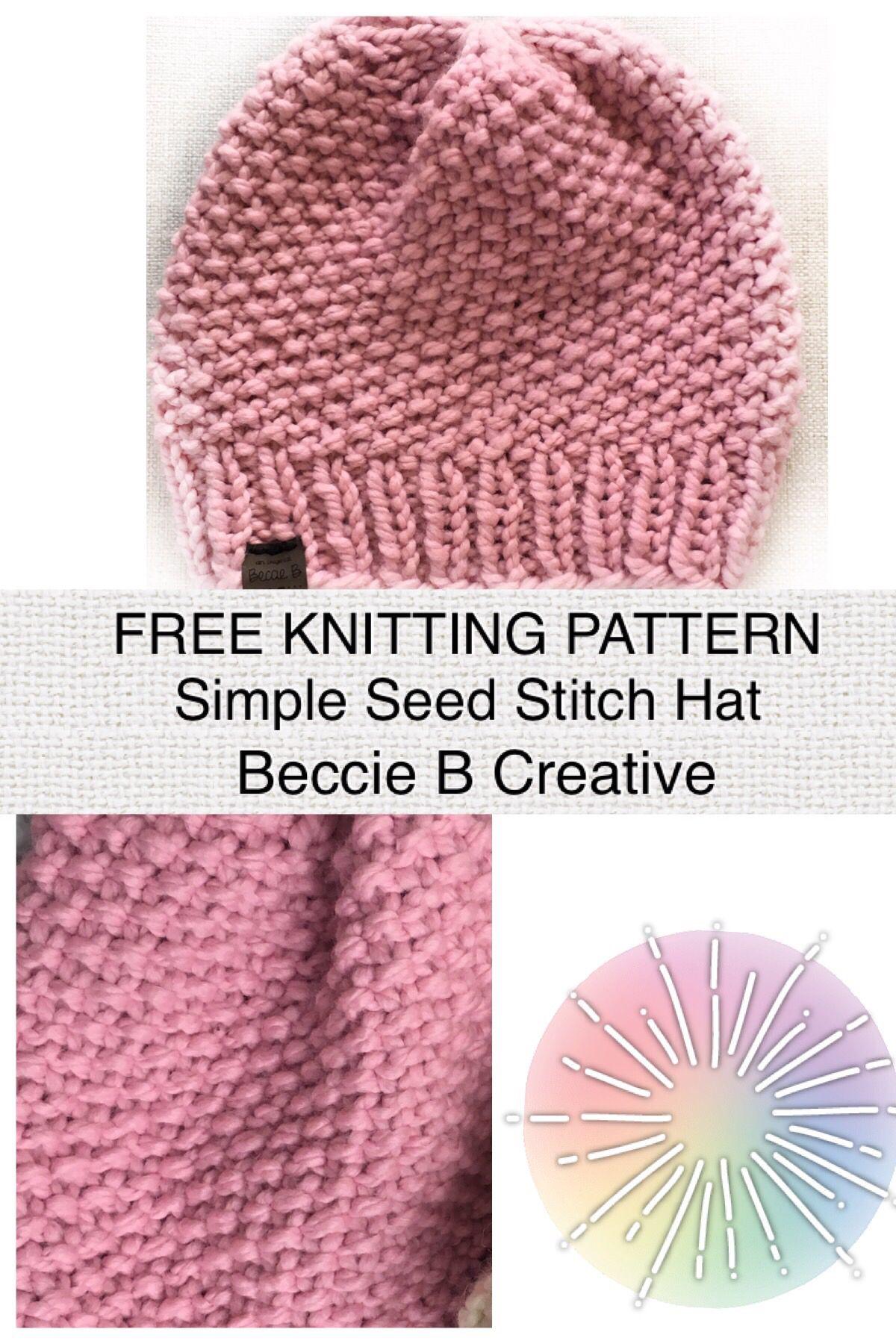 Free Knitting Pattern Simple Seed Stitch Knitting Patterns Free Hats Rabbit Knitting Pattern Seed Stitch