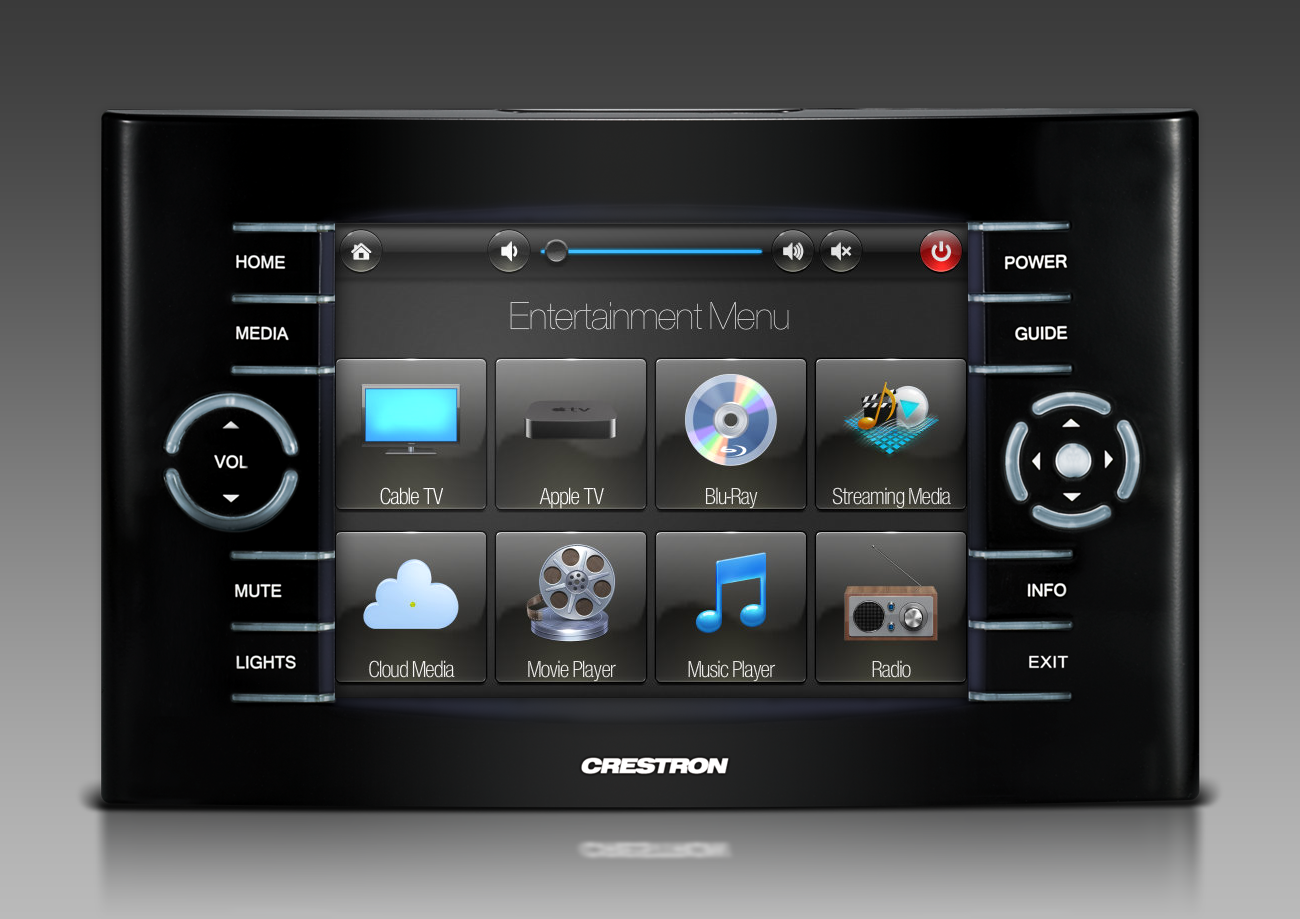 Home Theater Remote Control Touchscreen Graphics By Ntdesigns Smarthomes Home Automation Home Cinema