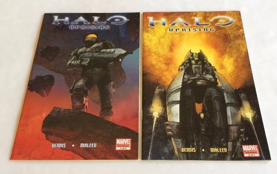 HALO UPRISING ISSUE #1, 2 COMIC BOOK LOT Bendis, Maleev Marvel Comics  | eBay