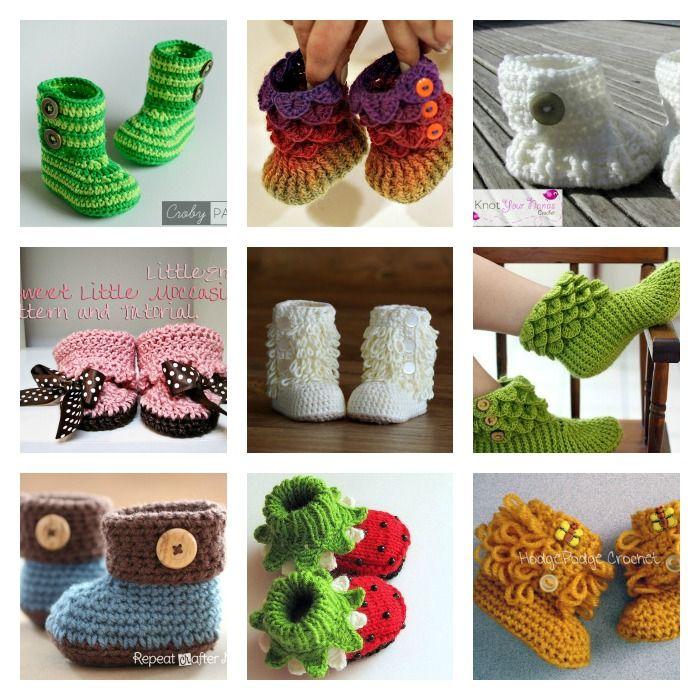 Classic DIY Crochet Snow Boots   kostenlose Muster, gehäkelte ...