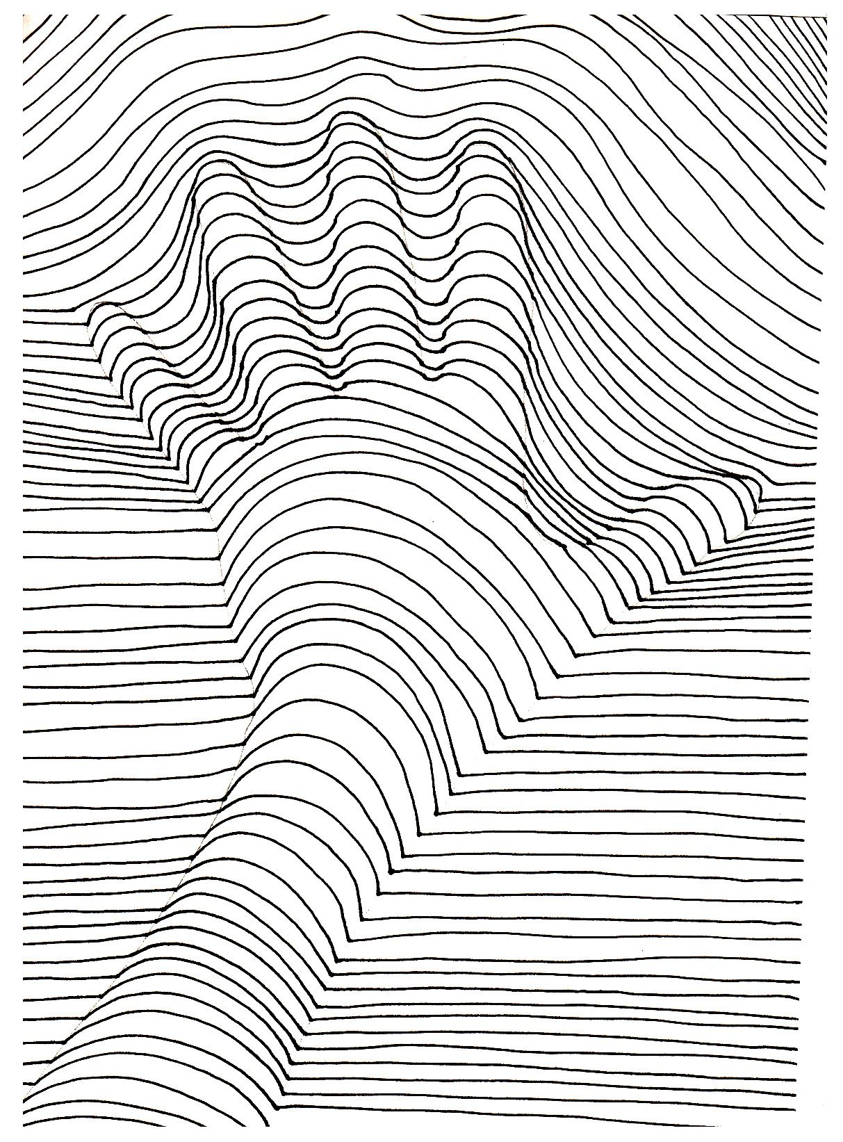 Op Art Illusion Optique Main A Hand That Seems Out Of The Drawing From The Gallery Op Art Just Color Discover All Op Art Illusion Art Op Art Lessons