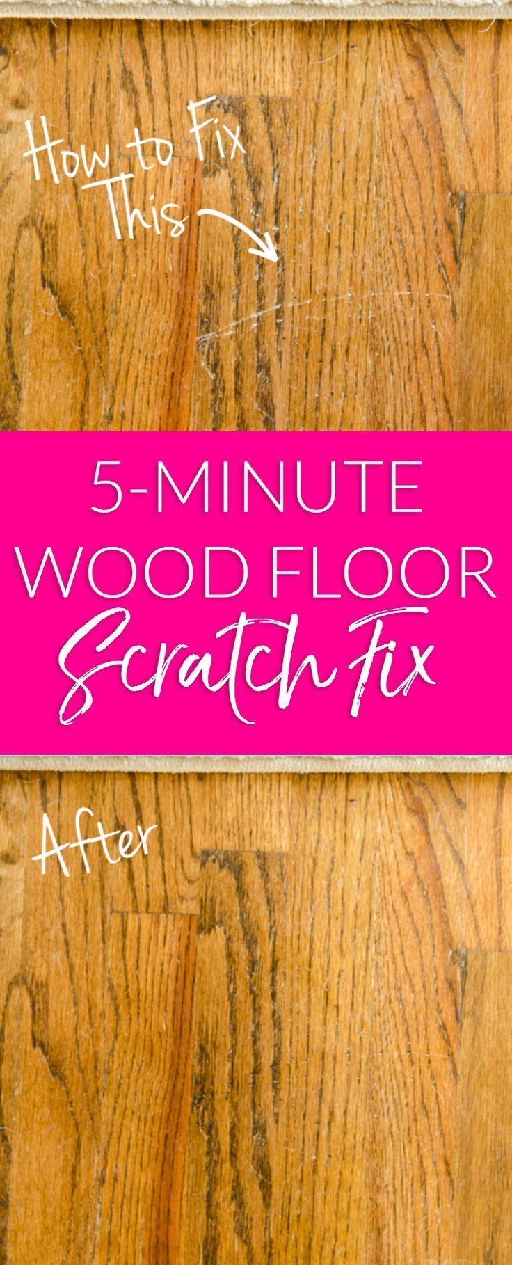 Hardwood floor scratches try this quick and easy hack to