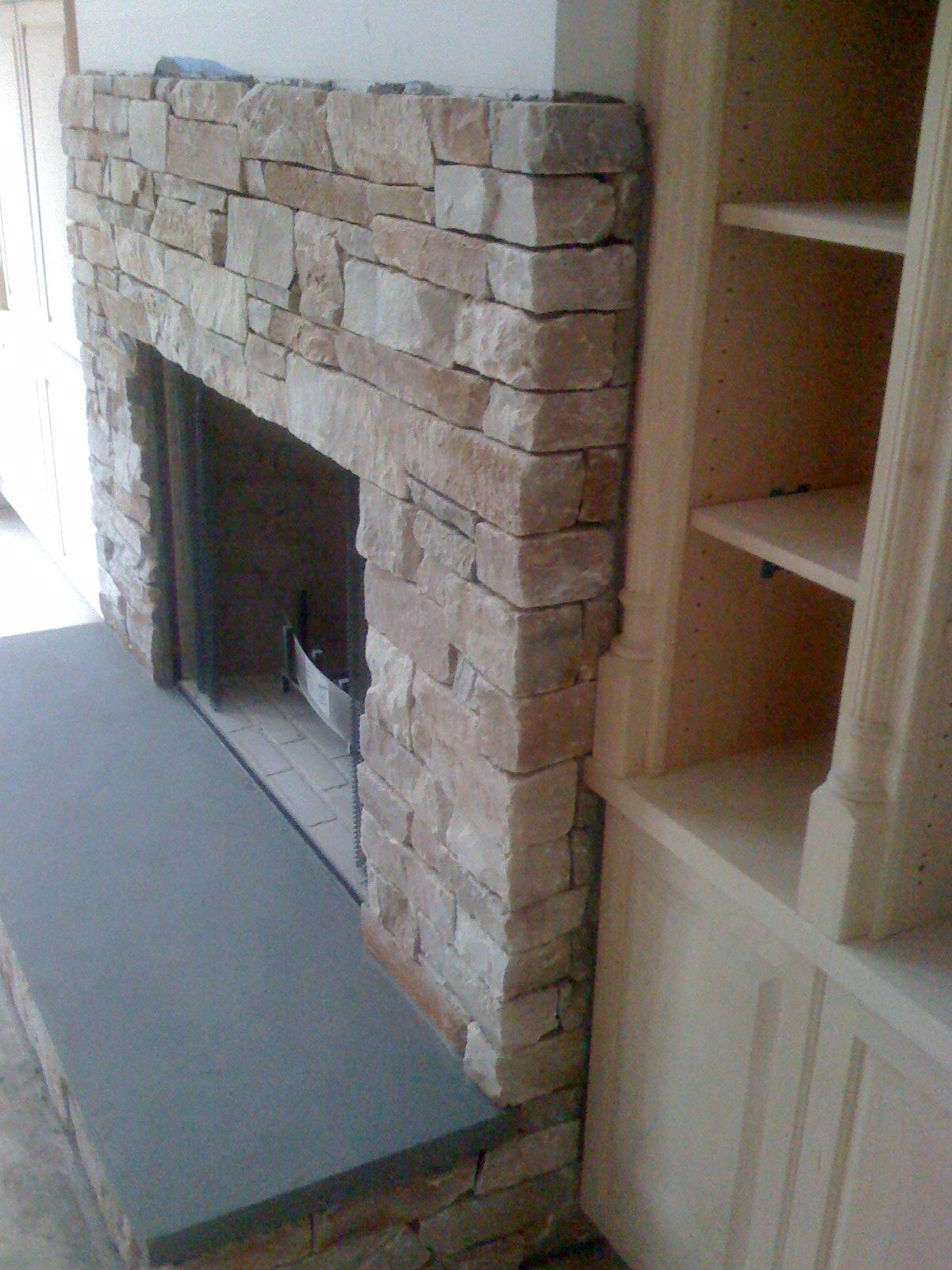 Bluestone Raised Hearth Fireplace Hearth Farmhouse Fireplace Mantels Fireplace