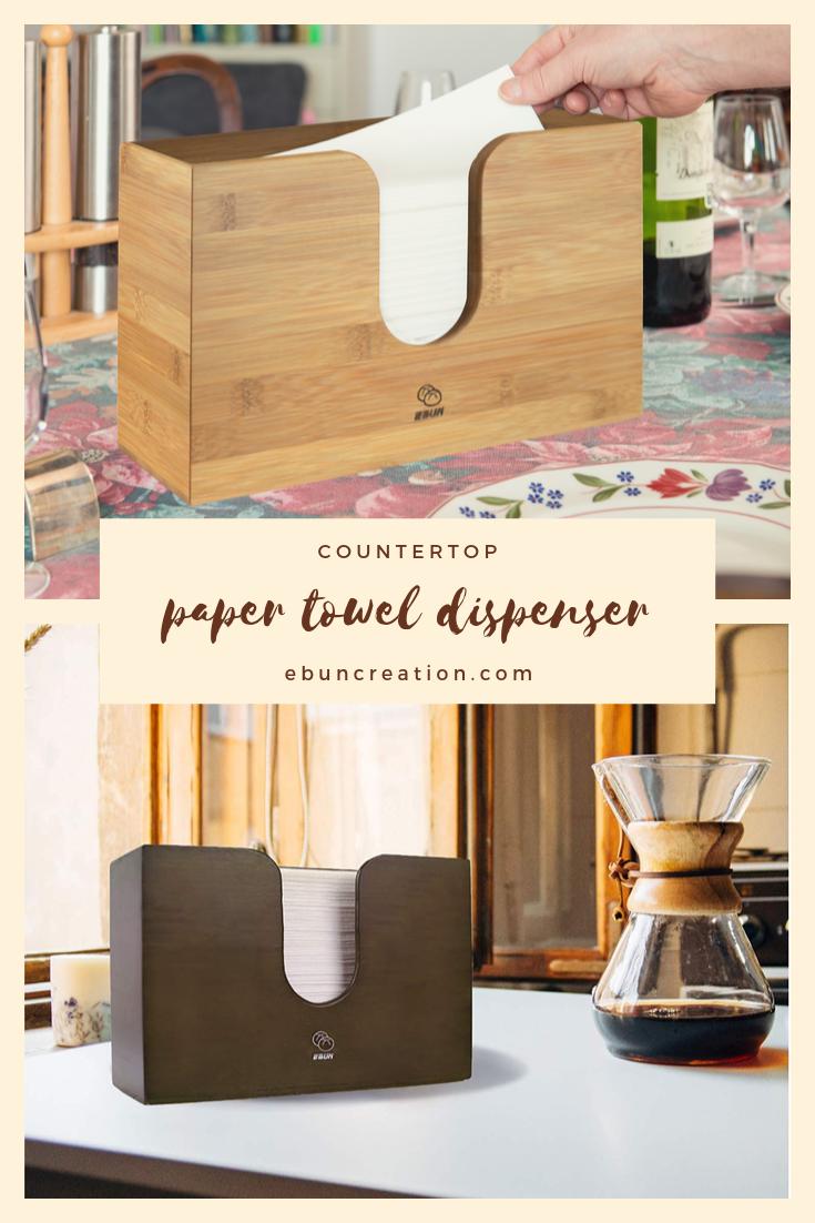 Ebun Bamboo Paper Towel Dispenser Towel Holder Toilet Paper