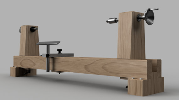 build a woodturning lathe drechseln werkstatt und werkzeuge. Black Bedroom Furniture Sets. Home Design Ideas