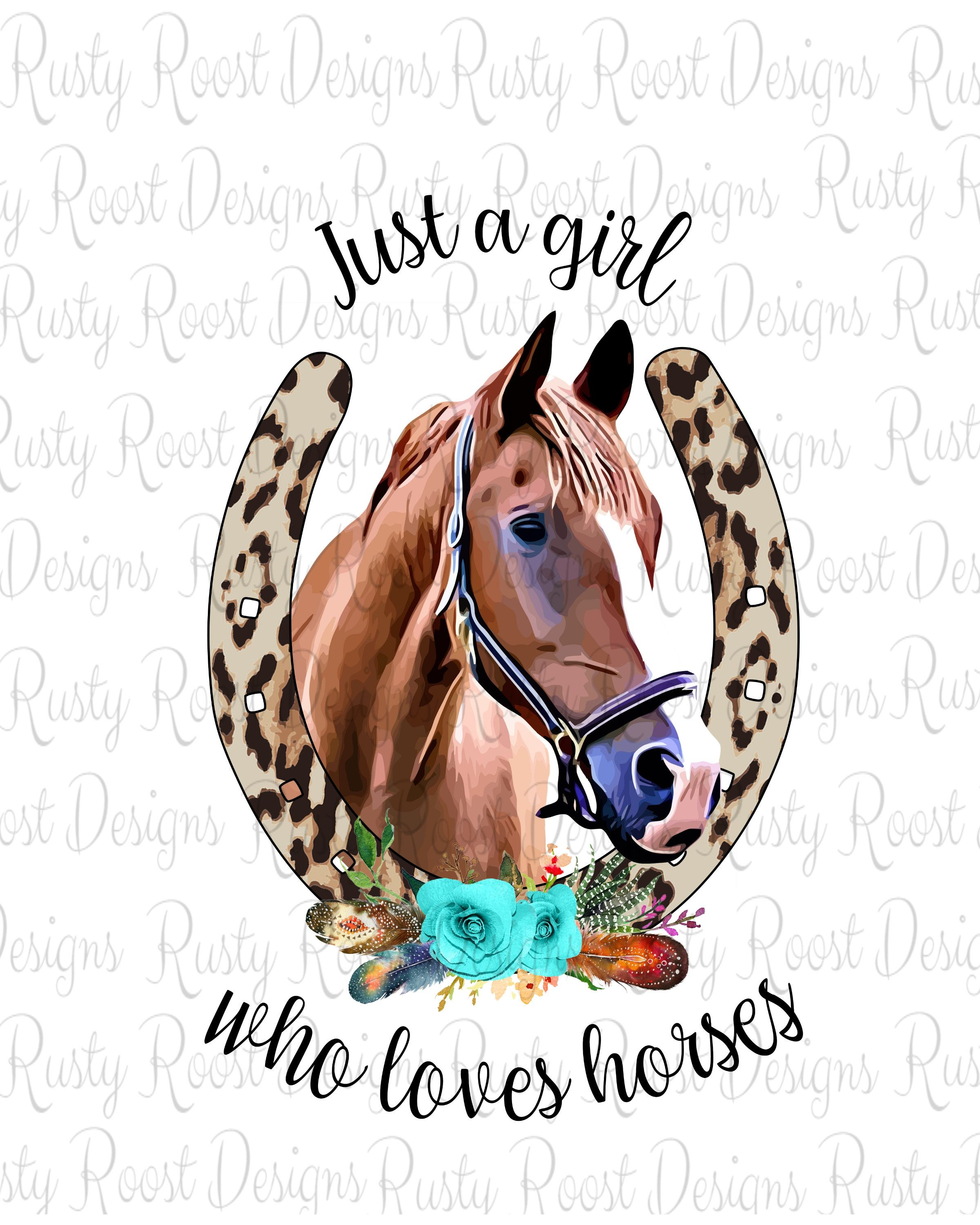 Just A Girl Who Loves Horses Pnghorse Sublimation Designs Etsy Horse Wallpaper Horses Country Backgrounds