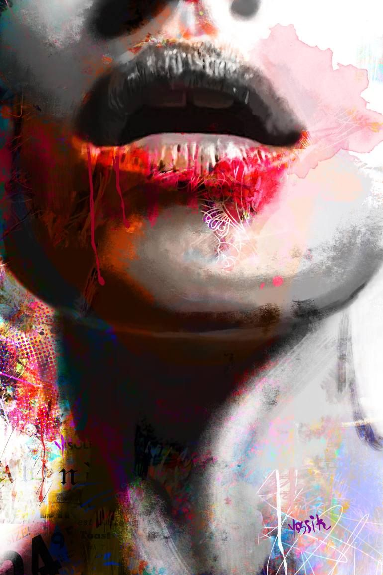 "Saatchi Art Artist yossi kotler; Painting, ""to bite the life"" #art"