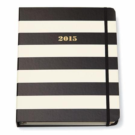 kate spade new york Agenda, Black Stripes - 17-month, 2014-2015 - Large