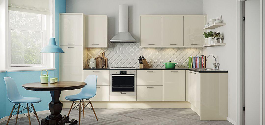 cream with dark worktop | Kitchen Inspiration | Pinterest | Trade ...