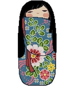 Japanese Kokeshi Doll 6 - MIKA. $5.00, via Etsy.