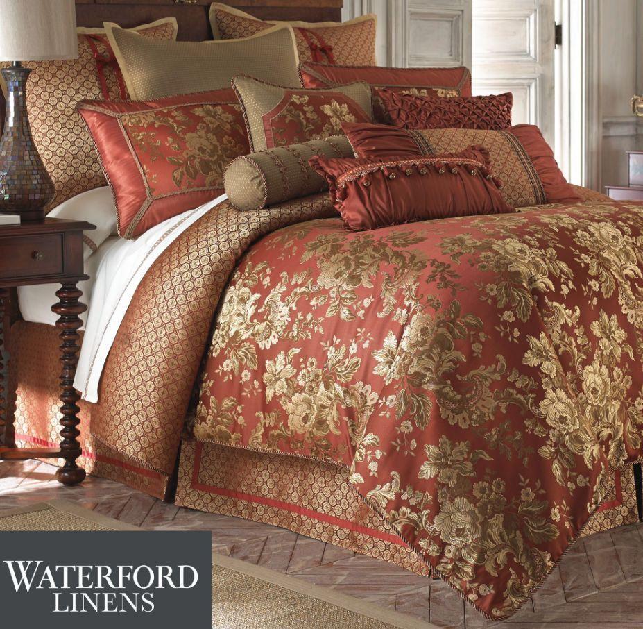 Waterford Linen Mackenna Queen Comforter Shams Bedskirt 4p