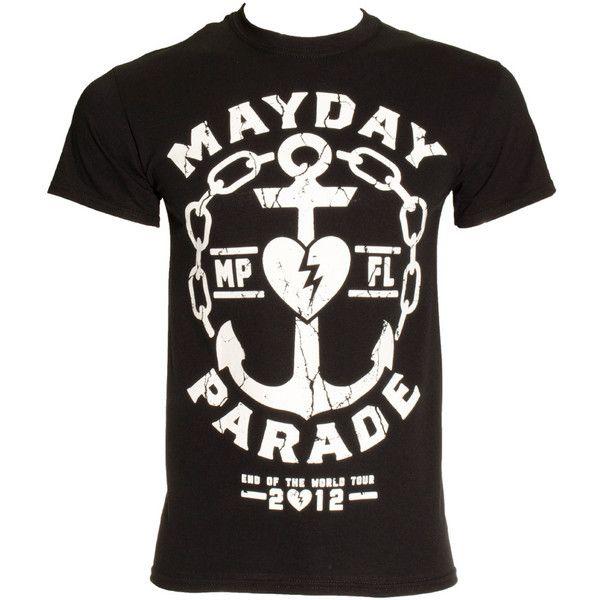 Mayday Parade Anchor T Shirt Black 19 Liked On Polyvore