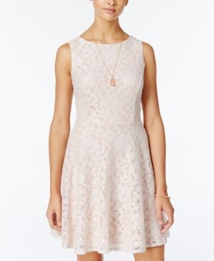 6d6ebd0866d6 Speechless Juniors' Glittered Lace Dress, Only at Macy's - Pink 5 ...