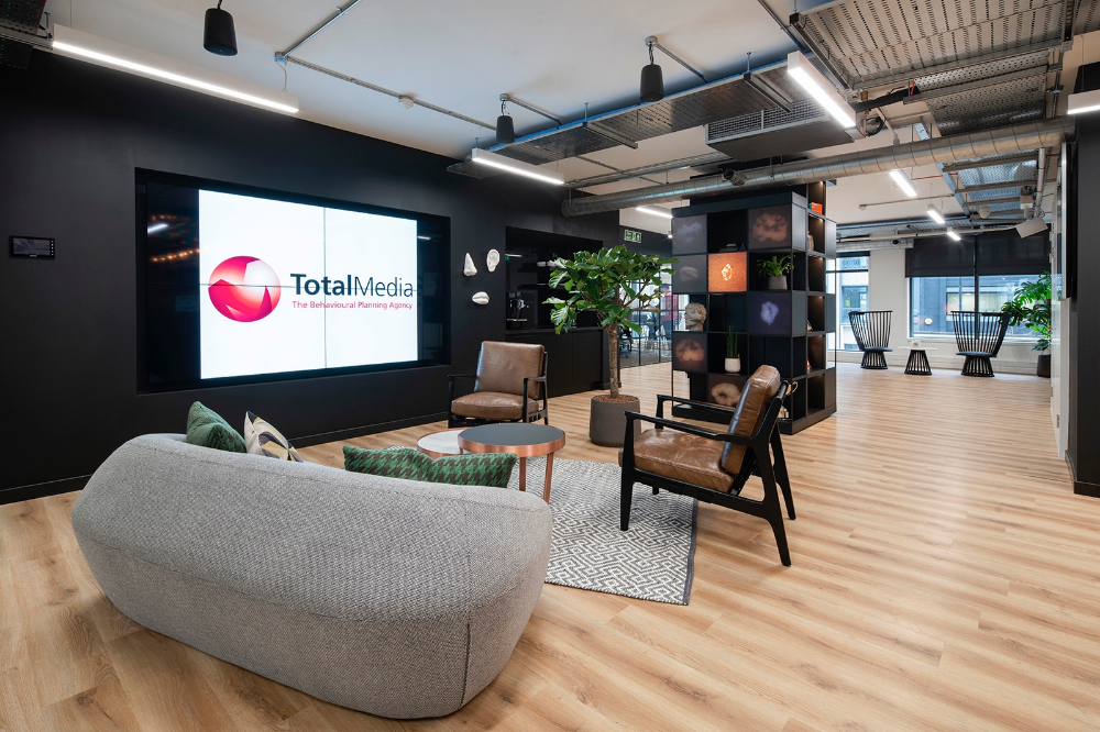 Inside Total Media's Biophilic London office   Interior architecture. Cool apartments. Commercial design