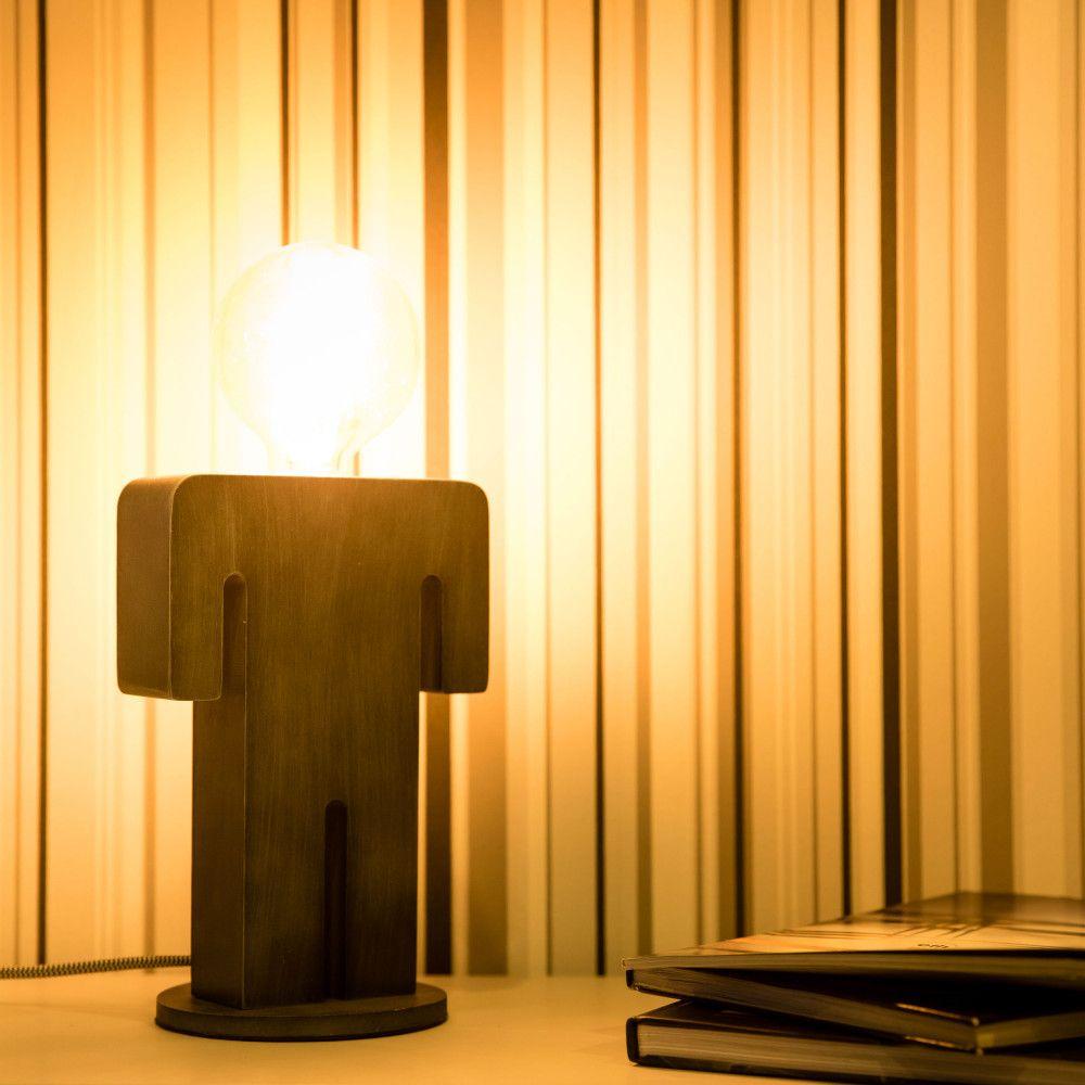 Lampe A Poser En Bois Adam Ampoule Vintage Ampoule Et Ma Maison