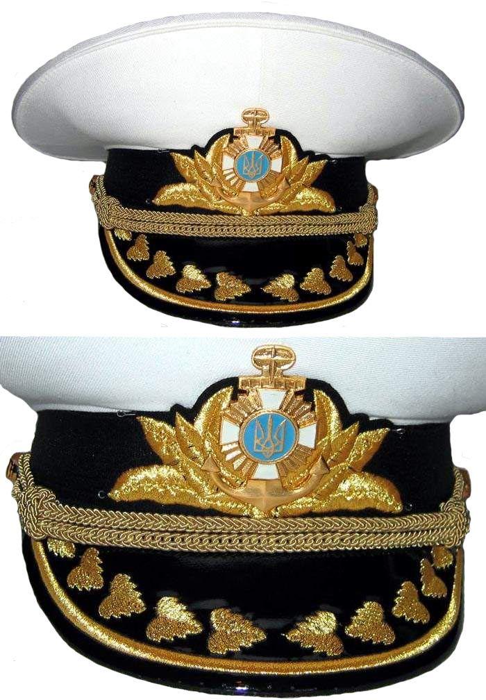 Ukrainian Navy admirals  white summer visor cap  02e000c5e6b