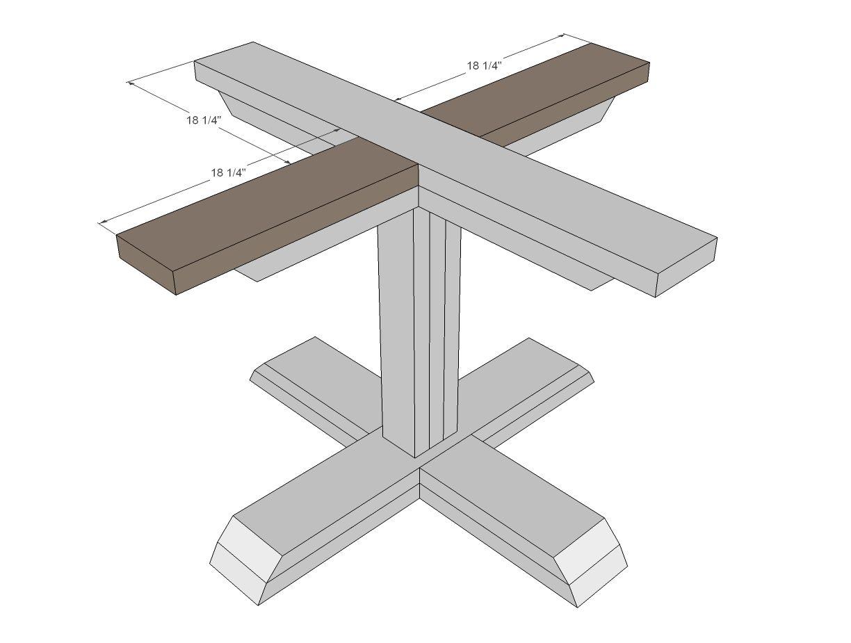 Square Pedestal Table | Diy chair, Diy table, Pedestal ...